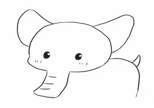 可爱小象简笔画画法步骤图解教程 - 大象简笔画如何画