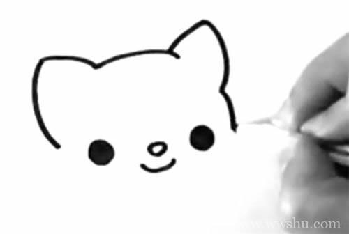 七步画出可爱的小猫简笔画步骤图解教程 小猫简笔画如何画