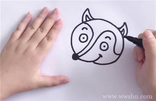 狐狸简笔画画法步骤图解教程 幼儿简笔画狐狸如何画