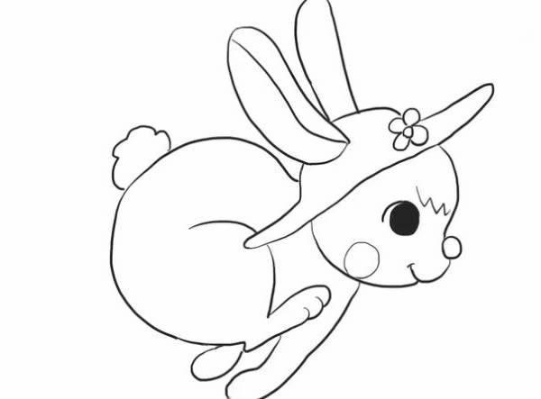 奔跑的兔子简笔画如何画 兔子简笔画的画法步骤图解教程