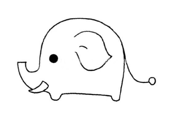 简单的大象要如何画 可爱的大象简笔画画法步骤图片大全