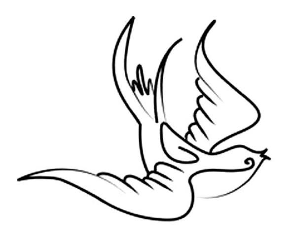 12款简单的小燕子简笔画图片 怎样画小燕子简单画法