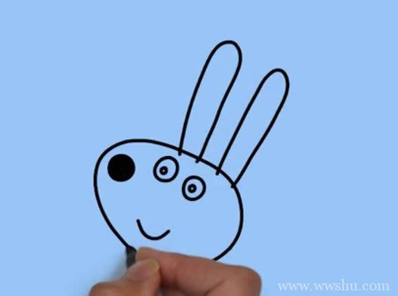 小兔瑞贝卡简笔画 小兔瑞贝卡简笔画步骤图解