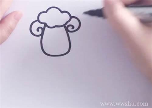 小羊的画法简笔画图片 简笔画小羊的画法步骤图片