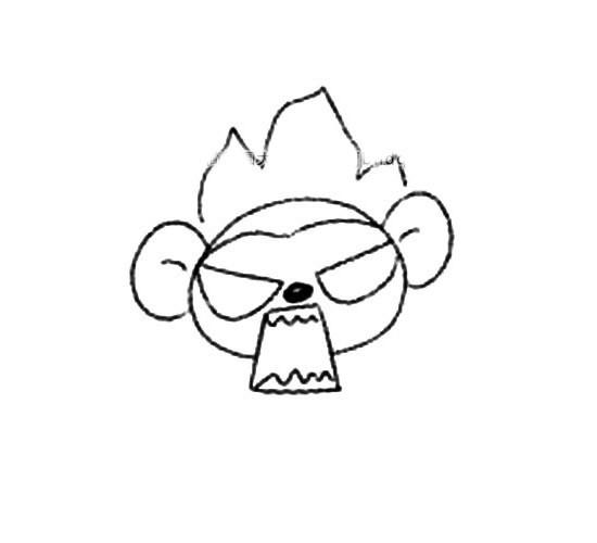 动物的画法:猴子简笔画步骤图片
