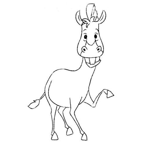 动物的画法 开心的斑马简笔画步骤图片