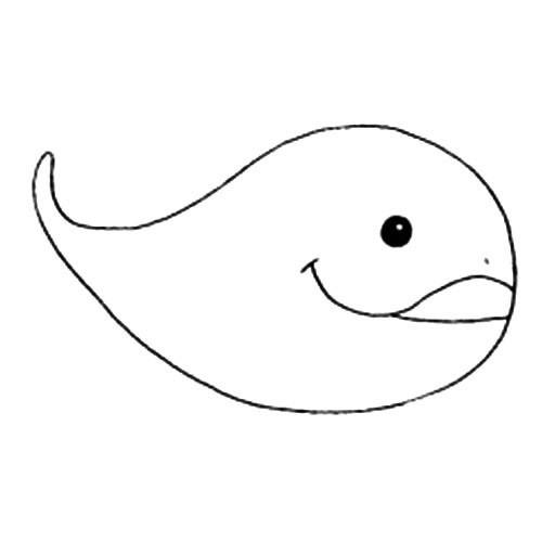 动物的画法 鲸鱼简笔画步骤图片