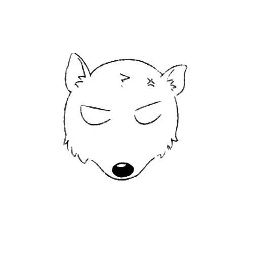 动物的画法:北极熊简笔画步骤图片