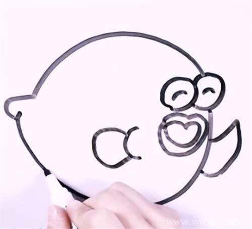 河豚鱼简笔画 手把手教你画河豚鱼简笔画步骤图解