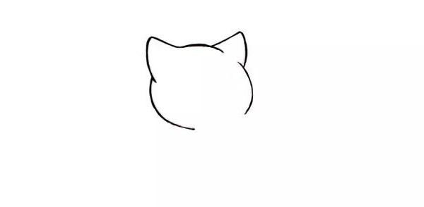 【小猫吃鱼简笔画】小猫吃鱼的简笔画步骤图解教程