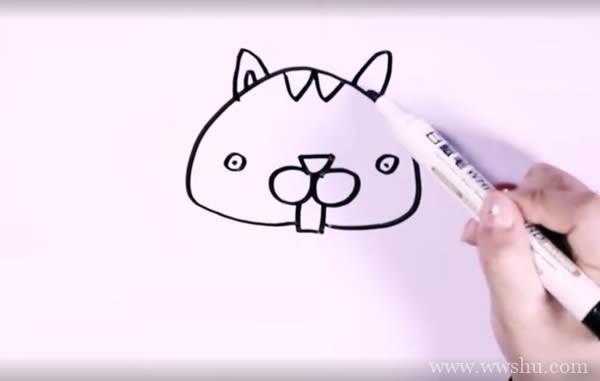 【可爱小松鼠简笔画】可爱小松鼠的画法简笔画步骤图解