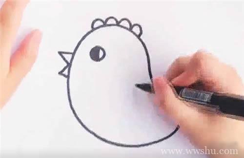 【可爱的小黄鸡简笔画】简笔画小黄鸡的画法步骤图解