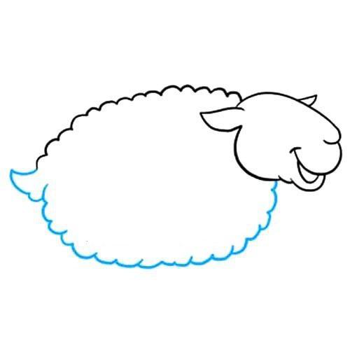 【绵羊如何画简笔画图片】绵羊如何画简笔画步骤图解教程