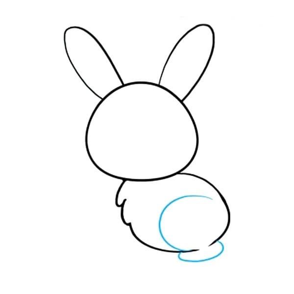 【可爱小兔子简笔画】简单十步画出小兔子简笔画步骤图