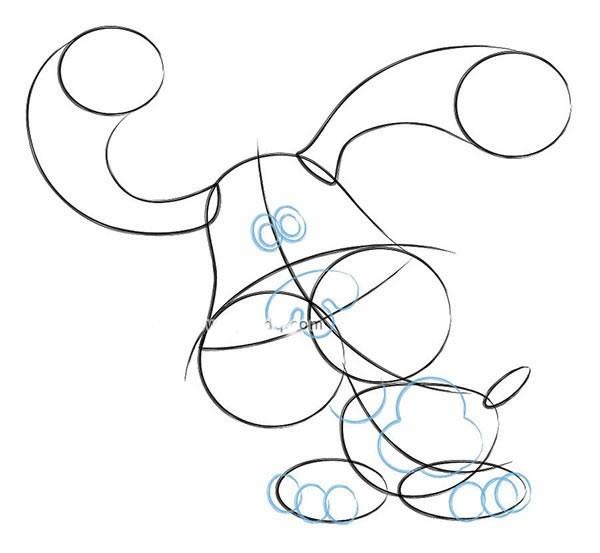 【可爱小狗简笔画】长耳朵小狗简笔画步骤图片教程