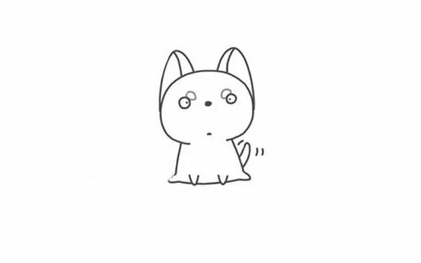 【哈士奇简笔画】可爱的哈士奇简笔画步骤图解教程