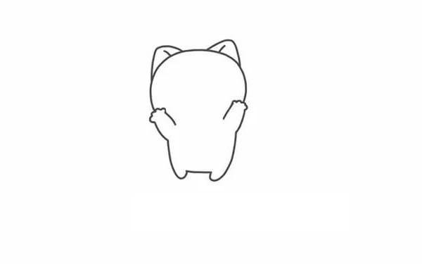 【秋田狗简笔画】可爱的秋田犬简笔画步骤图解教程
