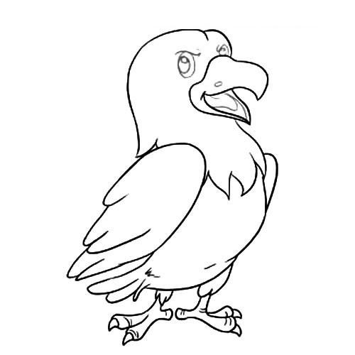 【老鹰简笔画】卡通老鹰简笔画图片大全