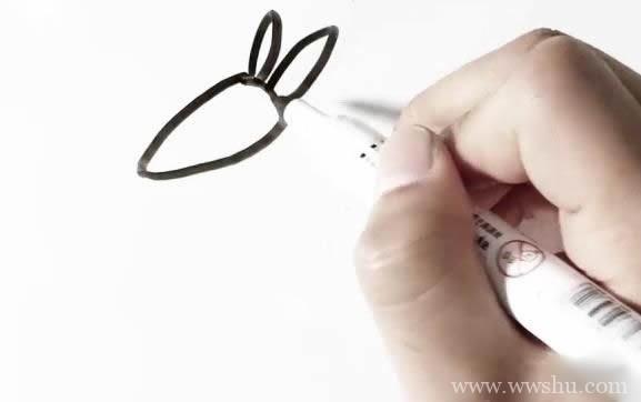【袋鼠简笔画教程】简单的袋鼠简笔画画法步骤图片大全