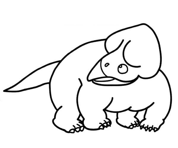 【恐龙简笔画】简单的三角龙简笔画图片大全