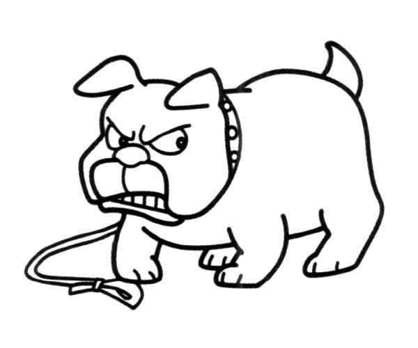 凶狠的恶狗简笔画图片