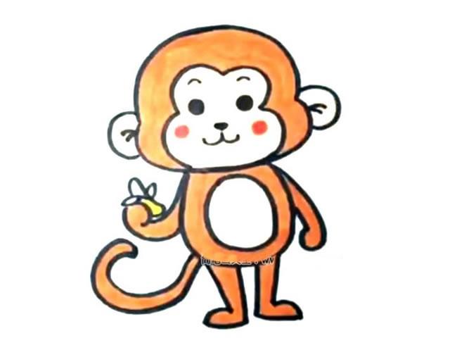 吃香蕉的猴子简笔画