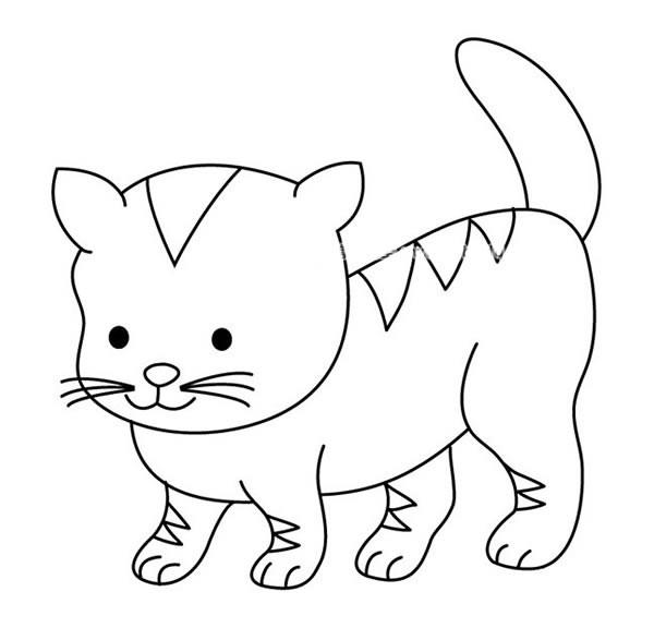 可爱的小花猫简笔画图片