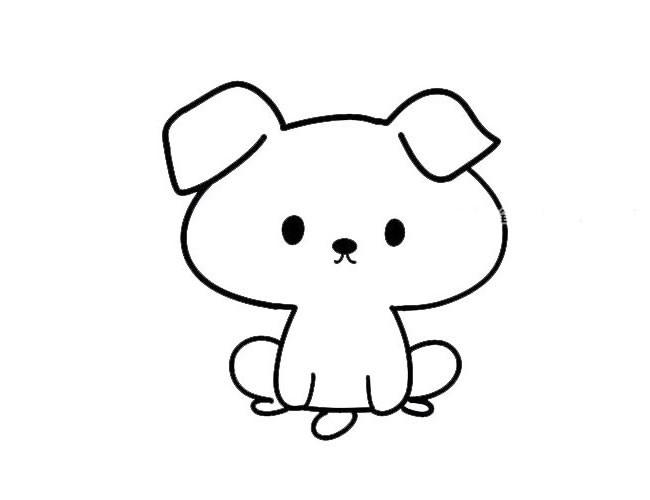 卡通小狗简笔画图片大全_卡通狗简单画法