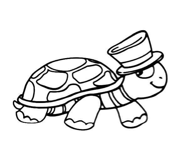 帅气的乌龟先生简笔画图片_卡通乌龟的简单画法