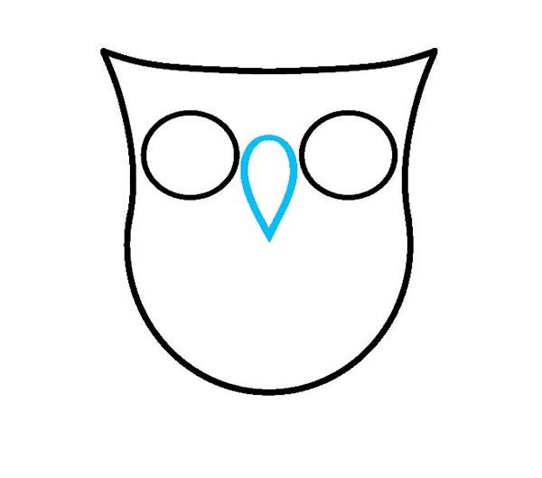 彩色的猫头鹰简笔画步骤图解教程_猫头鹰的简单画法