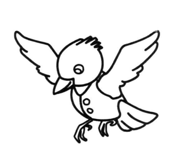 小鸟先生简笔画图片_卡通小鸟如何画