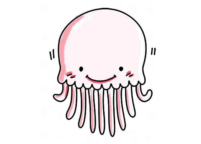 4张可爱的海洋生物简笔画彩色图片_海洋动物的简单画法