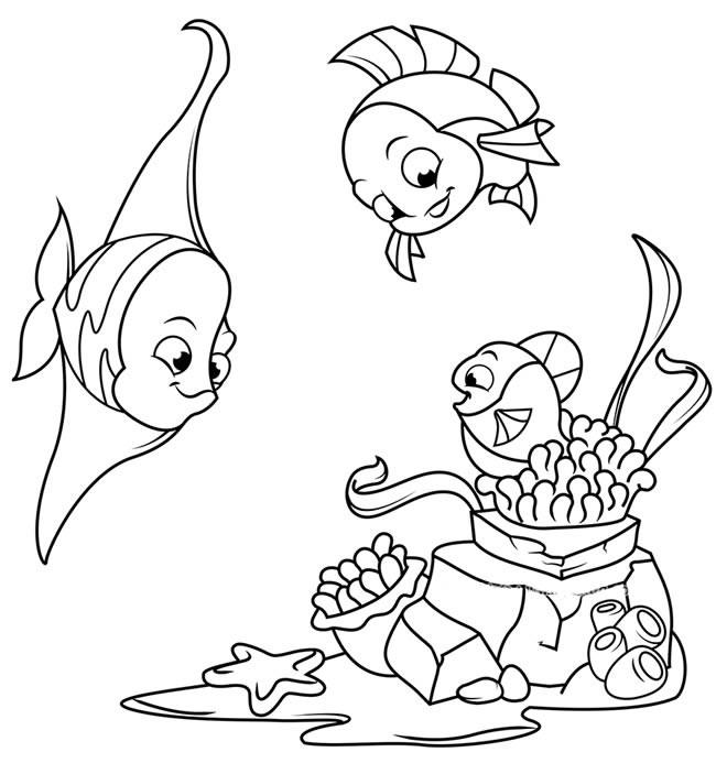 海底世界简笔画之四款可爱的珊瑚鱼简单画法