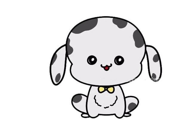 可爱的小狗简笔画图片大全_坐着的小狗如何画