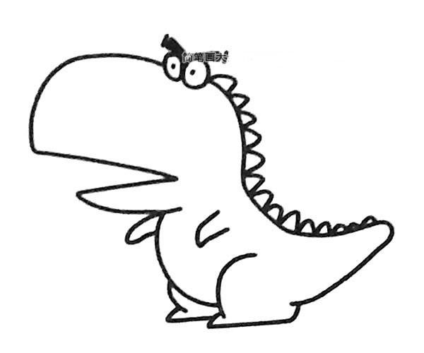 6款卡通恐龙简笔画图片大全 卡通恐龙的简单画法