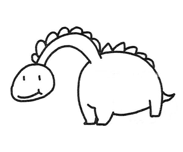儿童恐龙的简单画法大全 恐龙简笔画