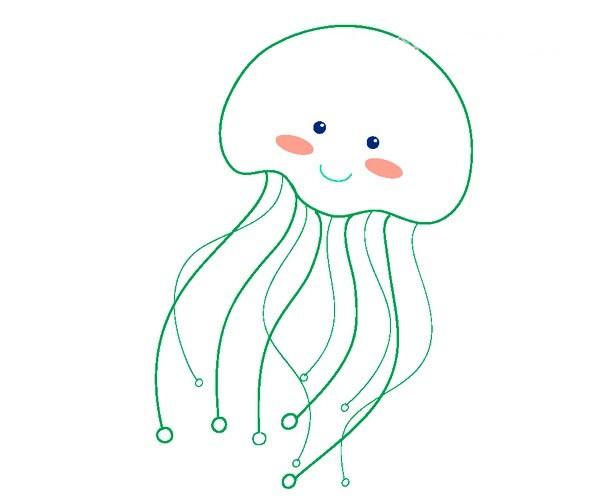 可爱的水母简笔画图片