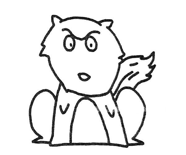 6款卡通狼简笔画图片 狼的简单画法大全