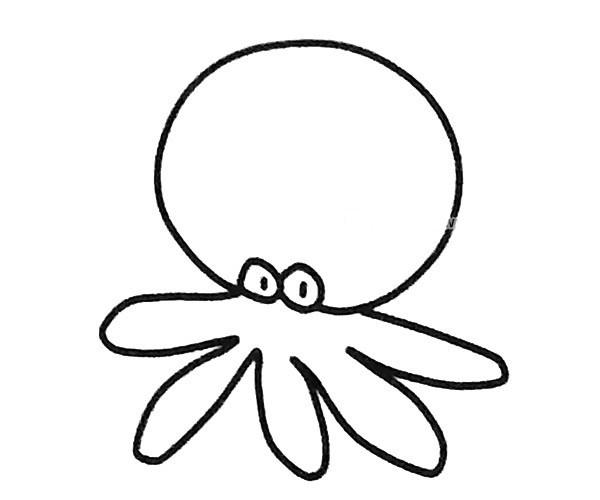 6款卡通章鱼简笔画图片 不同的卡通章鱼简单画法大全