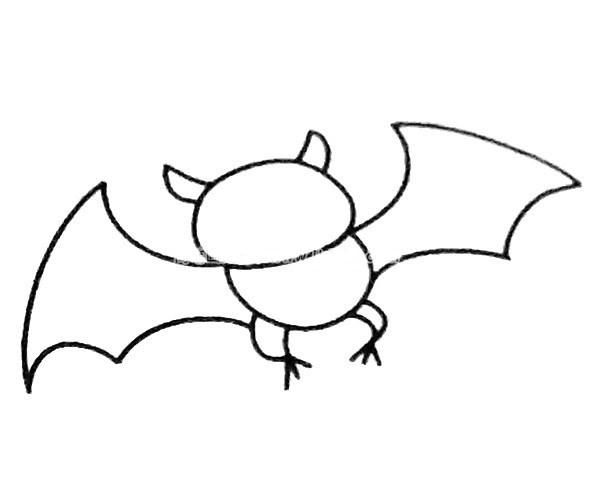 儿童学画蝙蝠简笔画步骤图解 简单的蝙蝠如何画