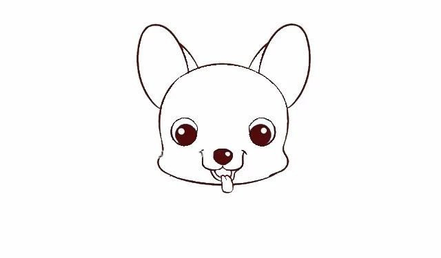 儿童学画可爱的拉布拉多小狗简笔画步骤图解教程