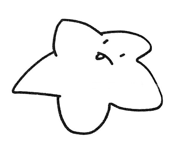 6款可爱的海星简笔画图片 卡通海星的简单画法大全