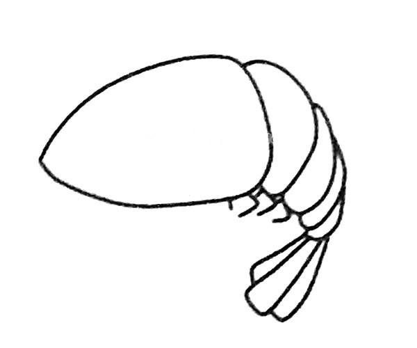 儿童学画卡通虾的简笔画步骤图解 卡通虾如何画