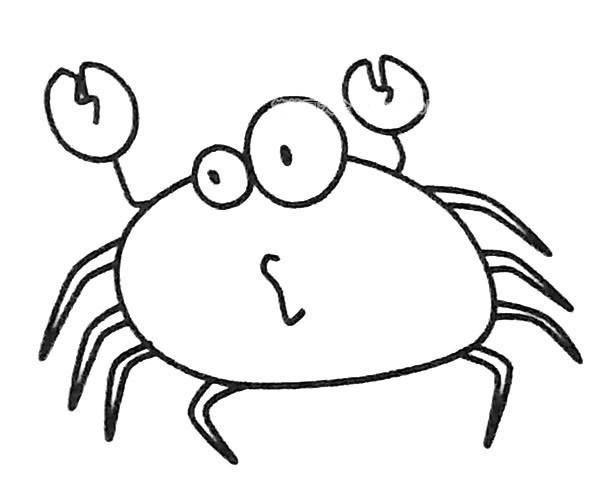 6款卡通螃蟹简笔画图片 卡通螃蟹的简单画法大全