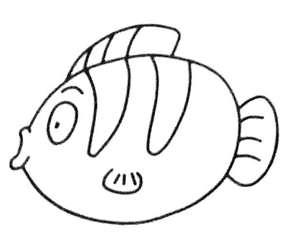 儿童学画神仙鱼简笔画步骤教程 神仙鱼如何画