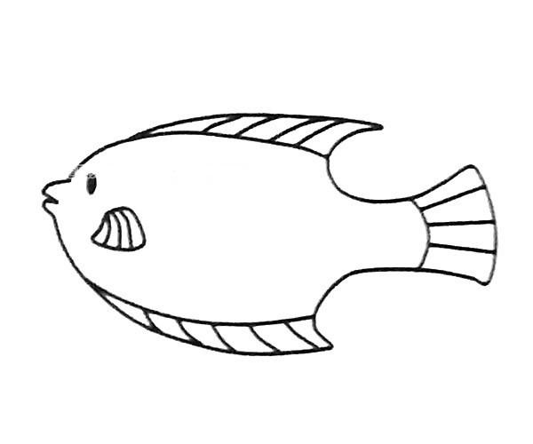 6款可爱的神仙鱼简笔画图片 神仙鱼的简单画法大全