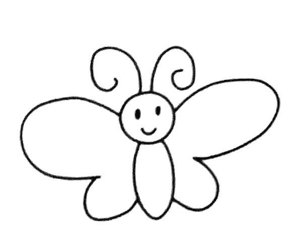 6款卡通蝴蝶简笔画图片 卡通蝴蝶的简单画法大全