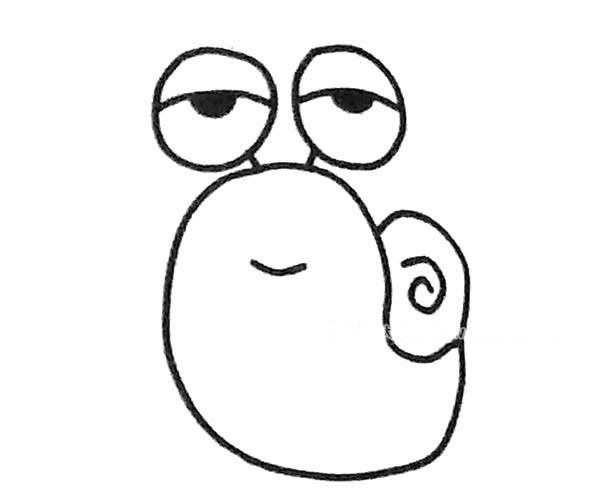 儿童学画卡通蜗牛简笔画步骤教程 卡通蜗牛如何画