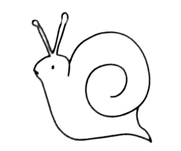 6款可爱的卡通蜗牛简笔画图片 蜗牛的简单画法大全