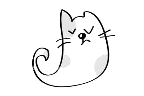 12款可爱的小猫简笔画图片 小猫的简单画法大全